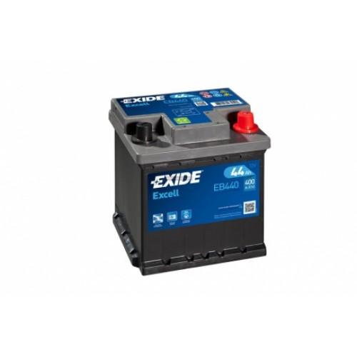 EXIDE EXCELL 44AH 400A JOBB+ EB440