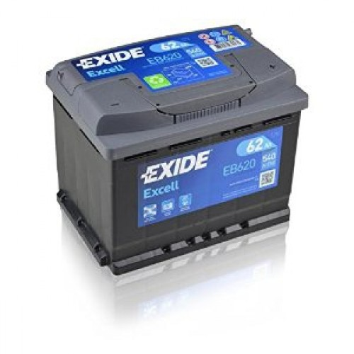 EXIDE EXCELL EB620 62AH JOBB+